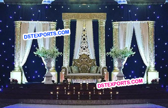 Maharaja Wedding Golden Stage