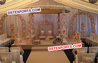 Antique Wooden Mandap