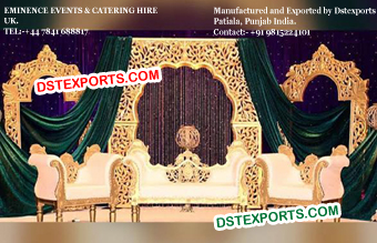 Golden Panels Backdrop Decoration