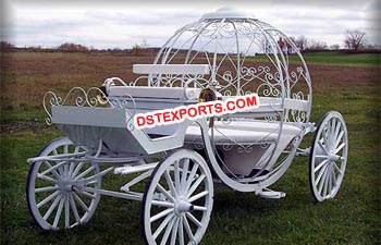 Wedding Pumpkin White Cinderella Carriage