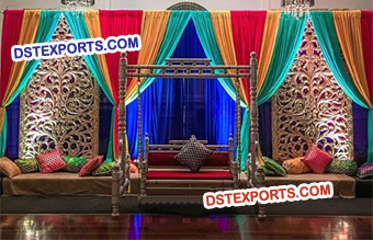 Asian Wedding Mehandi Stage