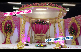 Gorgeous Wedding Wooden Mandap