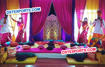 Punjabi Wedding Sangeet Stage Decoration