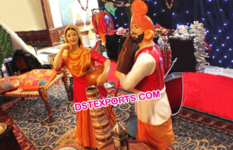 Traditional Punjabi Village Theme Statue Decors