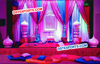 Muslim Wedding Mehandi Stage Decoration