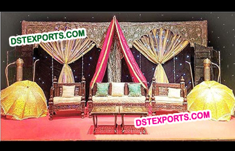 Pakistani Wedding Mehandi Stage Decor