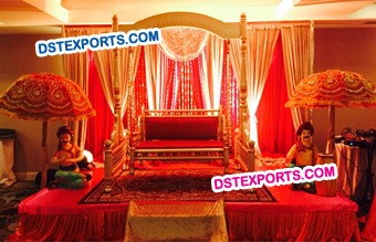 Rajasthani Wedding Mehandi Stage Decoration