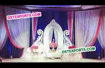 Asian Wedding Oval Panel Stage