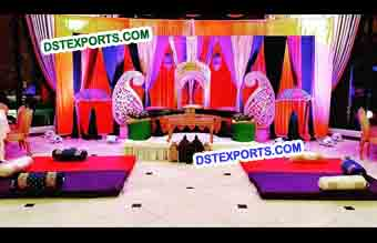 Wedding Mehandi Theme Stage Decoration