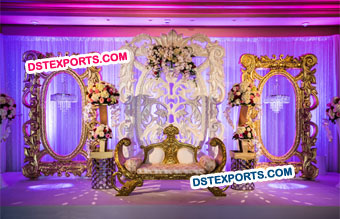 Maharaja Wedding Stylish Panels Stage
