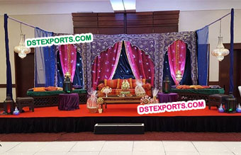 Wedding New Design Temple Embroidered Backdrop