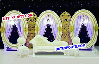 Asian Wedding Oval Frames Decoration