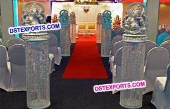 Wedding Crystal Aisleyway Pillars