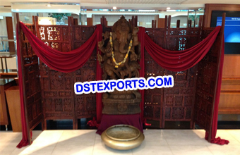 Wedding Ganesha Statue With Backdrop Screen
