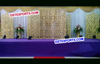 Flower Design Self Standing Panels Stage