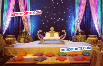 Asian Wedding Night Mehndi Stage