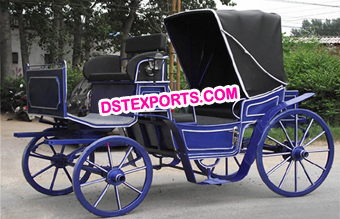Blue & Black Victoria Carriage