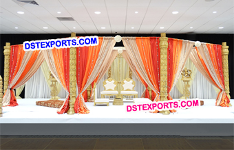 Wedding Wooden Open Mandap