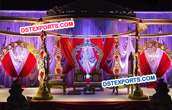 Latest Wooden Mandap