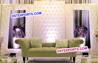 Leather Tufted Frame Backdrop Panels