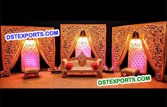 Muslim Mehandi Stage With Fiber Backdrop