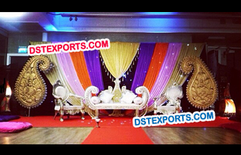 Wedding Mehandi Stage Set Decoration