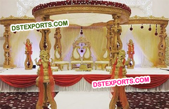 Wooden Handmade Carved Mandap