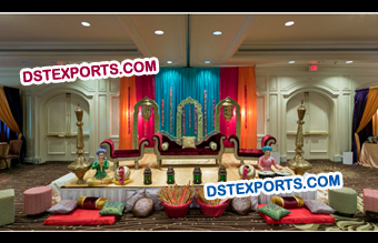 Rajasthani Wedding Mehandi Sangeet Decor