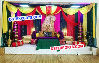 Night Wedding Mehandi Sangeet Decoration