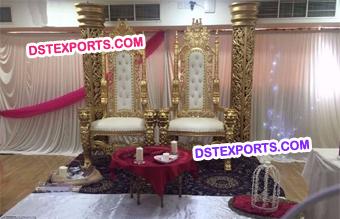 Wedding Gold Throne Chairs Stage