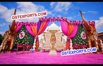 Outdoor Wedding Mandap Decoration