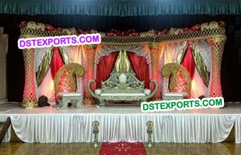 Asian Wedding King Stage Set