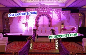 South Asian Wedding Leather Tufted Panels