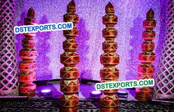 Indian Wedding Pot Pillars For Decoration
