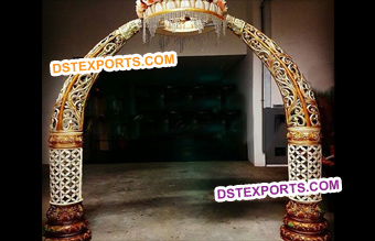 Wedding Elephant Trunk Pillars Welcome Gate