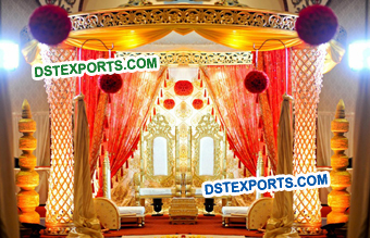 Diamond Cut Pillars King Mandap