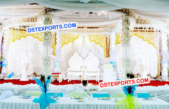 White Wedding Crystal Mandap