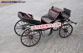 Black Vis-Vis Horse Victoria Carriage
