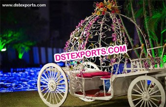 Beautiful Bride and Groom Carriage