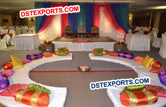 Beautiful Wedding Mehandi Night Stage