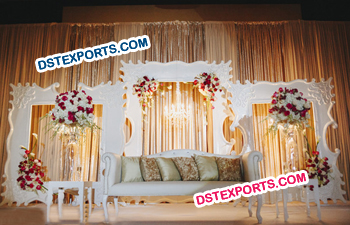 Simple English Wedding Stage Backdrop Frame