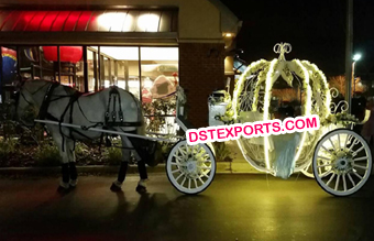 Lighted Princess Wedding Horse Carriage