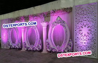 White Wedding Stage Backdrop Panels