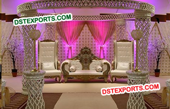 Wedding Crystal Mandap With Maharaja Furniture