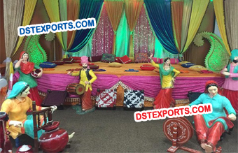 Punjabi Wedding Stage Decoration Theem