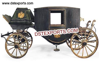 Black Covered Horse Drawn Carriage Buggy