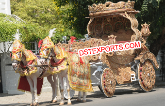 Traditional Indian Wedding Horse Buggy