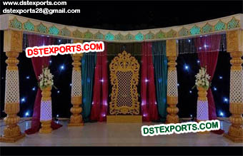 South Indian Wedding Stage Set