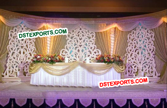 Wedding Stage Flower Design Back Frame