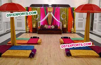 Henna Wedding Mehandi Stage Decoration